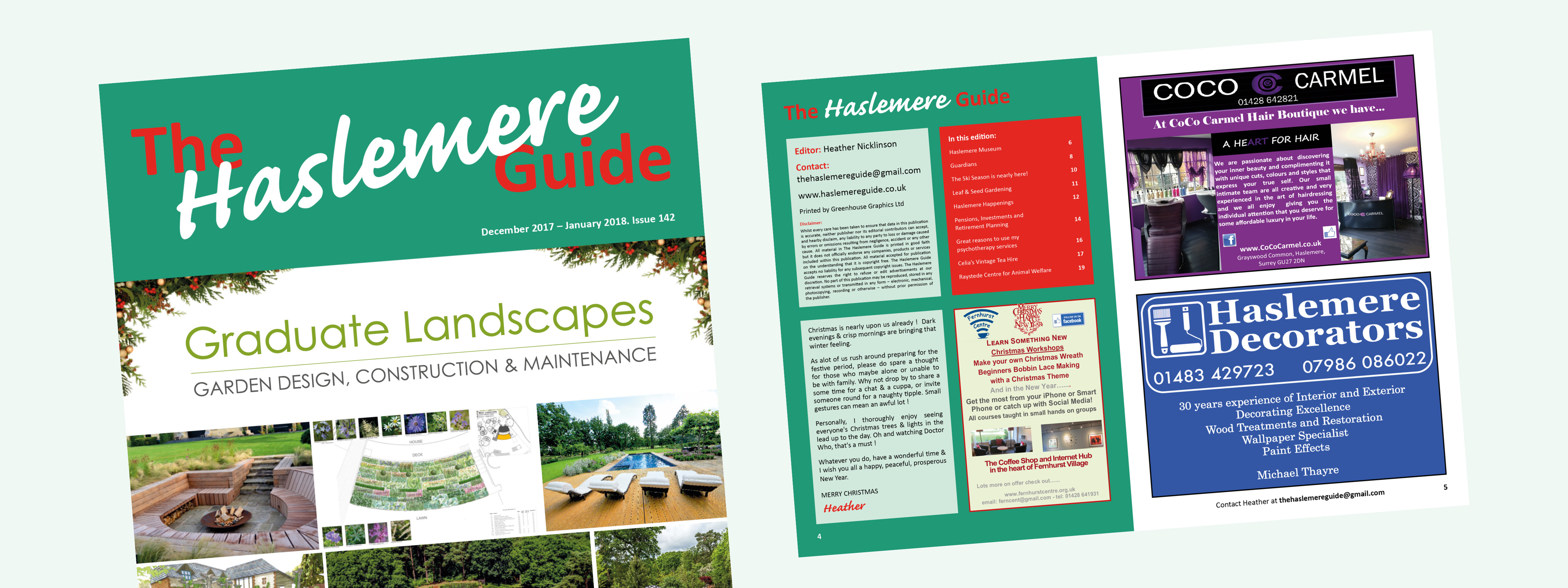 The December/January edition of the Haslemere Guide is now available to download