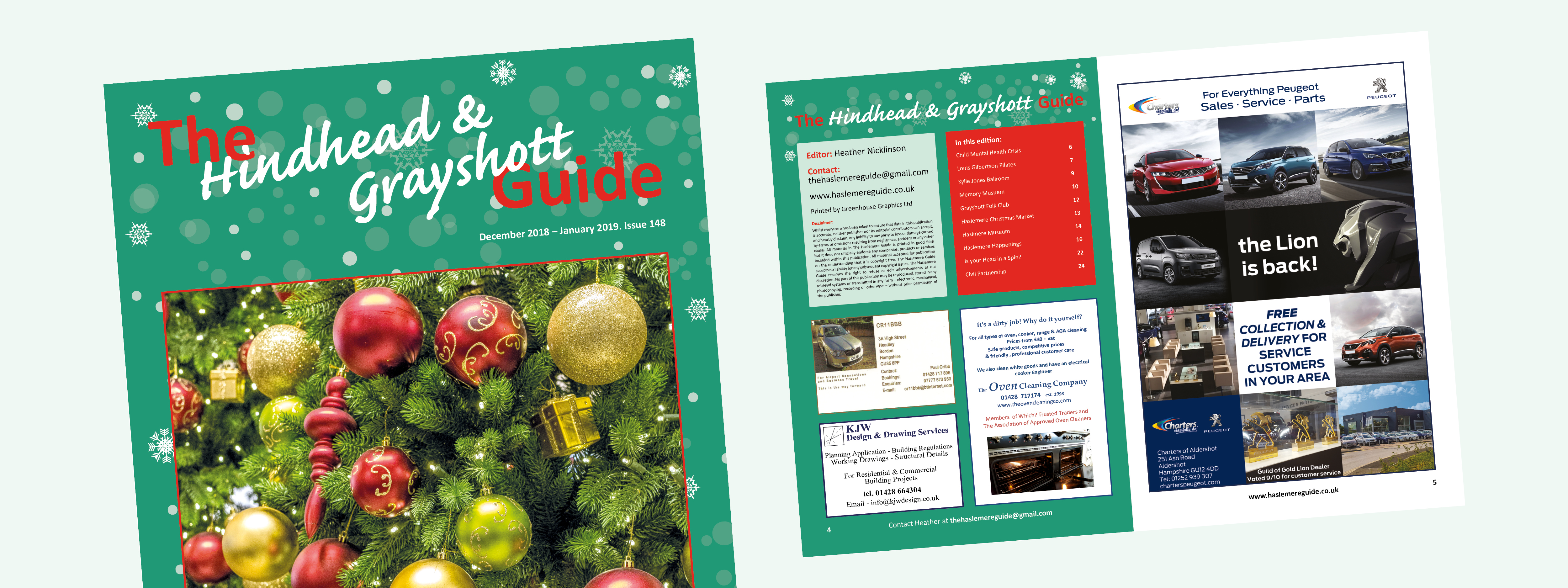 The December/January edition of the Hindhead & Grayshott Guide is now available to download